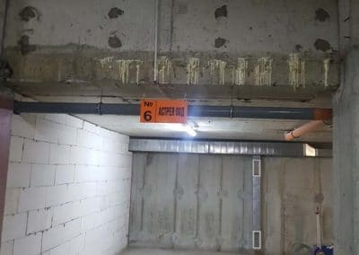 Отстраняване на течове в подземни гаражи и сутерени